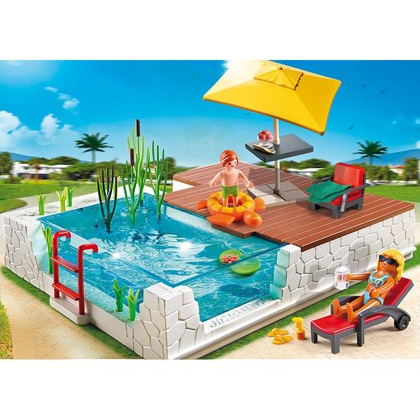 5575 piscine avec terrasse playmobil playmobil king jouet playmobil playmobil jeux d - Piscine moderne playmobil ...