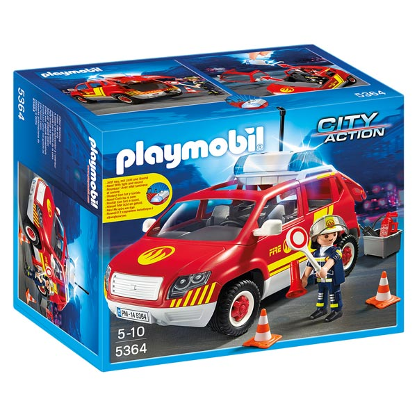 5364 v hicule d intervention avec sir ne playmobil pompiers et a roport playmobil king jouet. Black Bedroom Furniture Sets. Home Design Ideas