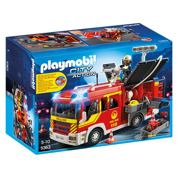 5363-Fourgon de pompier avec sirène et gyrophare - Playmobil pompiers et aéroport