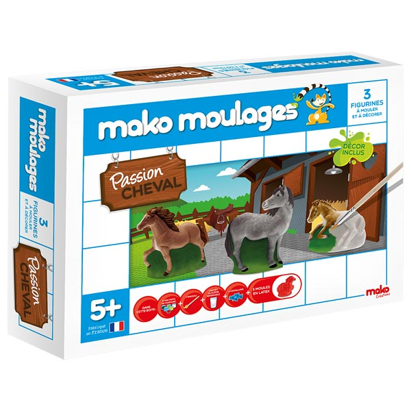 mako kit de moulage chevaux dujardin king jouet pate. Black Bedroom Furniture Sets. Home Design Ideas