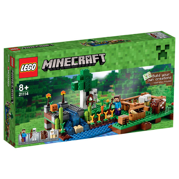 21114 lego minecraft la ferme lego king jouet lego. Black Bedroom Furniture Sets. Home Design Ideas