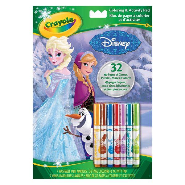 Rentrez dans l´univers La Reine des Neiges avec cet album de coloriage et dactivités. Contient des dessins à colorier ainsi que des jeux de puzzles, de labyrinthe pour que les enfants s´amusent avec leur personnages préférés. 7 feutres inclus.