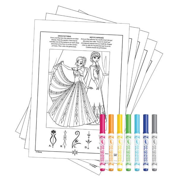 Album coloriage et activit s la reine des neiges crayola king jouet dessin et peinture - Coloriage en ligne la reine des neiges ...