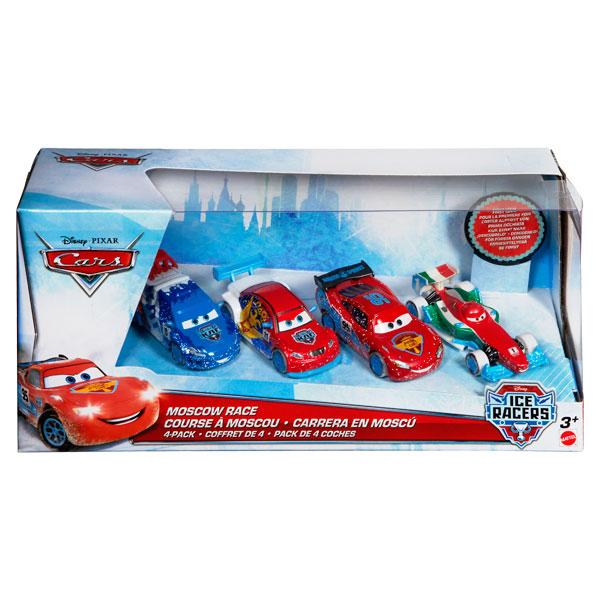 cars pack de 4 ice racers mattel king jouet h ros. Black Bedroom Furniture Sets. Home Design Ideas