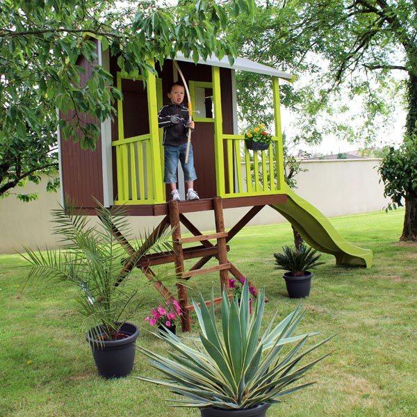 Maison dans les arbres soulet king jouet maisons for Arbre maison jouet