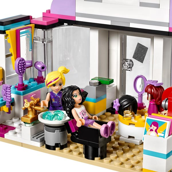 41093 lego friends le salon de coiffure d 39 heartlake city for Lego friends salon de coiffure