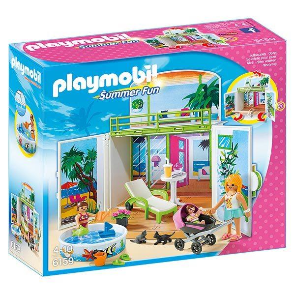 6159 terrasse de vacances playmobil king jouet playmobil playmobil jeux d 39 imitation - Coffre de jardin auchan ...