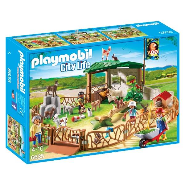 6635 parc animalier playmobil city life playmobil king for Piscine playmobil jouet club