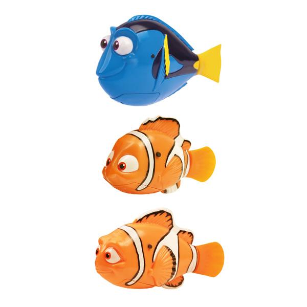 Il s´agit exactement du même concept que les Robot Fish, mais nouveauté...voici les célèbres poisson du dessin animé de Némo ! Ces fameux poissons, qui au contact de l´eau, se met à nager ! Complètement autonome, il est recouvert d´une matière ultra douce