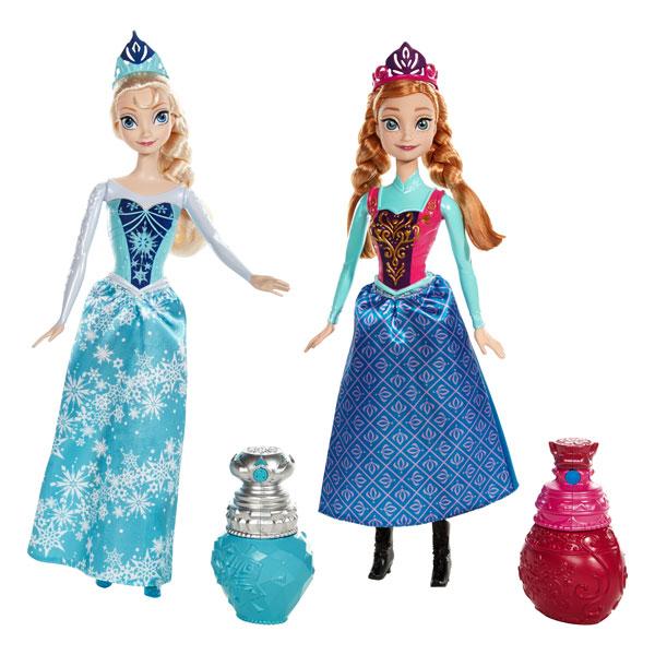 poupe reine des neiges anna ou elsa couleur royale - Barbie La Reine Des Neiges