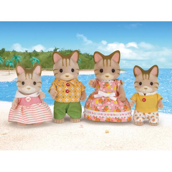 Sylvanian Families - 5180 - La famille chat tigré
