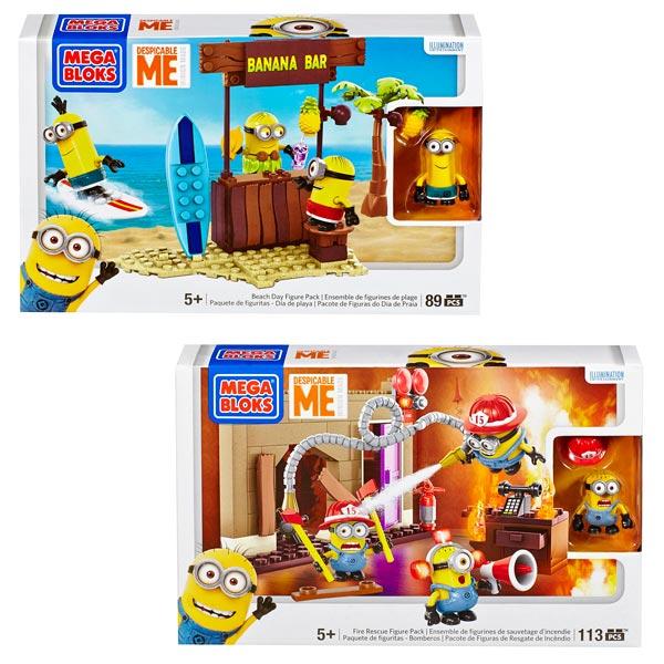 Les Minions Pack 3 Figurines Mega Bloks King Jouet Lego