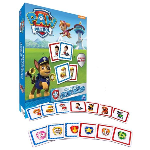 jeu de m mory pat 39 patrouille spin master king jouet jeux de cartes spin master jeux de soci t. Black Bedroom Furniture Sets. Home Design Ideas