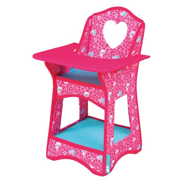 chaise haute poup e birdy paradise janod king jouet accessoires de poup es janod poup es. Black Bedroom Furniture Sets. Home Design Ideas