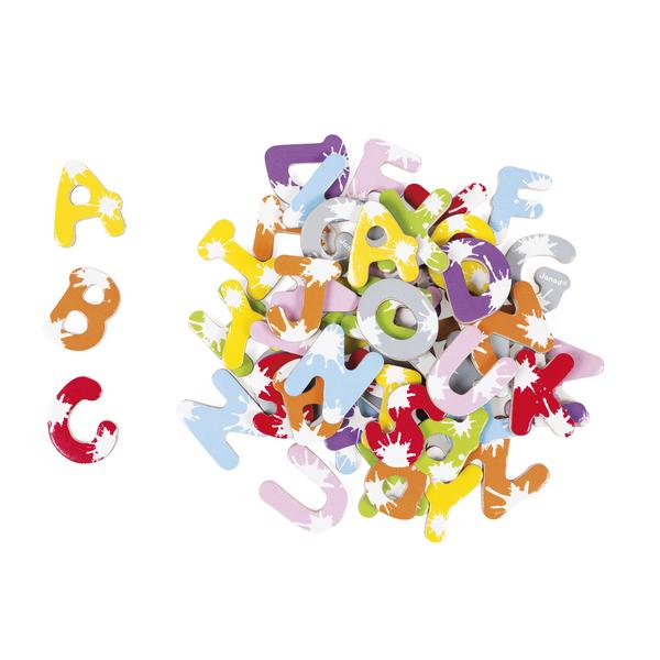 52 lettres magnétiques en bois Splash