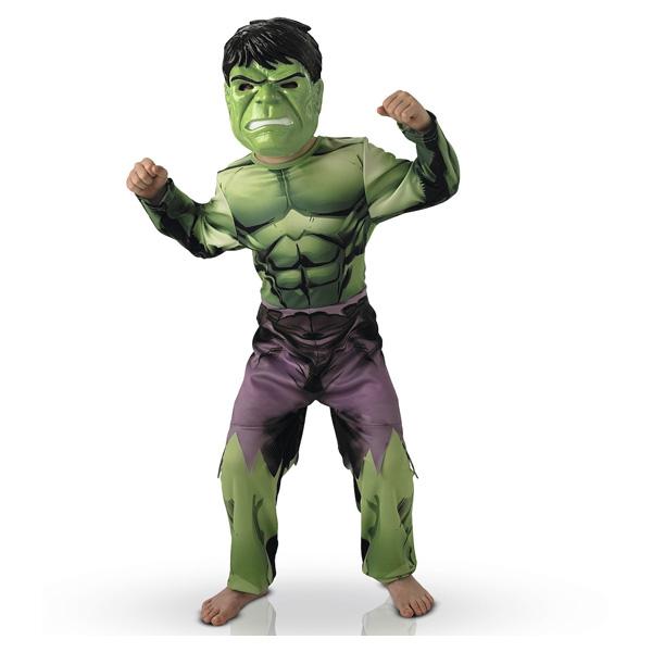 Avengers-Déguisement classique Hulk 3/4 ans