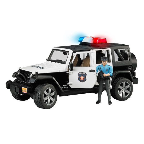 jeep wrangler police bruder king jouet les autres v hicules bruder v hicules circuits et. Black Bedroom Furniture Sets. Home Design Ideas