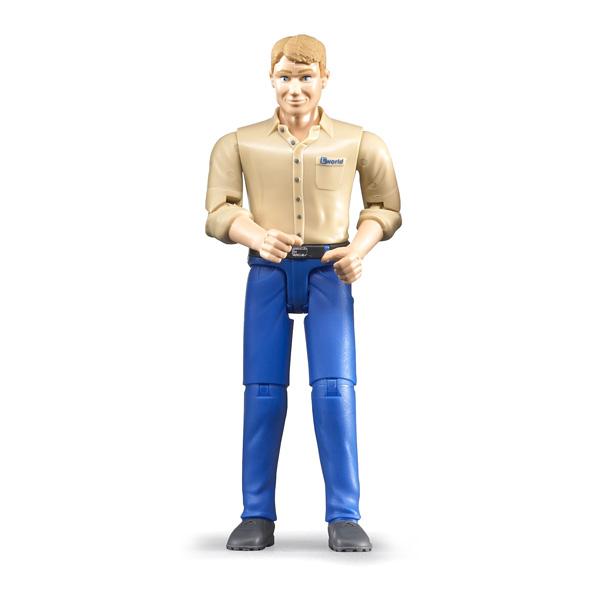 Figurine homme blond jean bleu