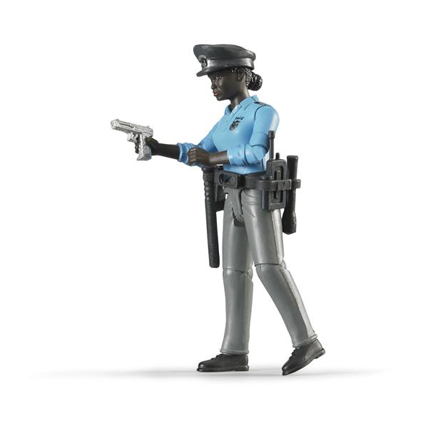 Figurine femme policière noire