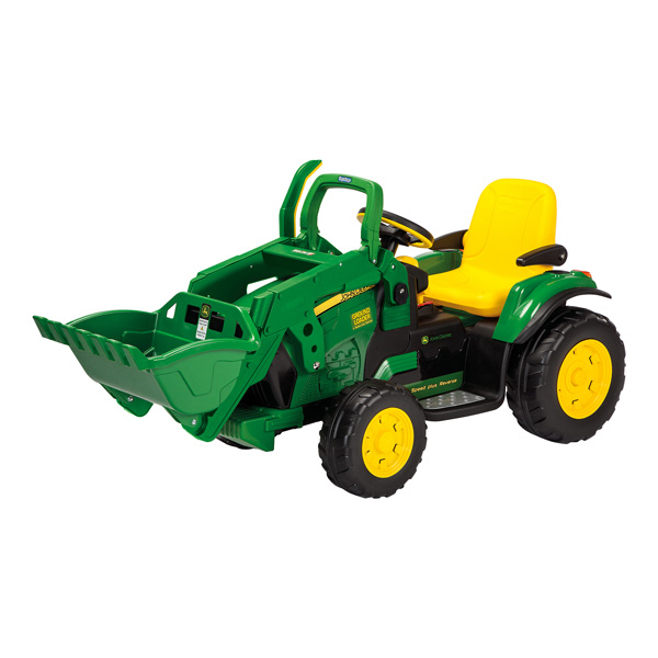 tracteur john deere loader 12v avec pelleteuse peg perego. Black Bedroom Furniture Sets. Home Design Ideas