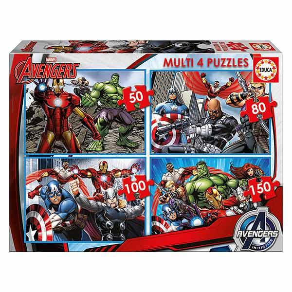4 puzzles progressifs Avengers