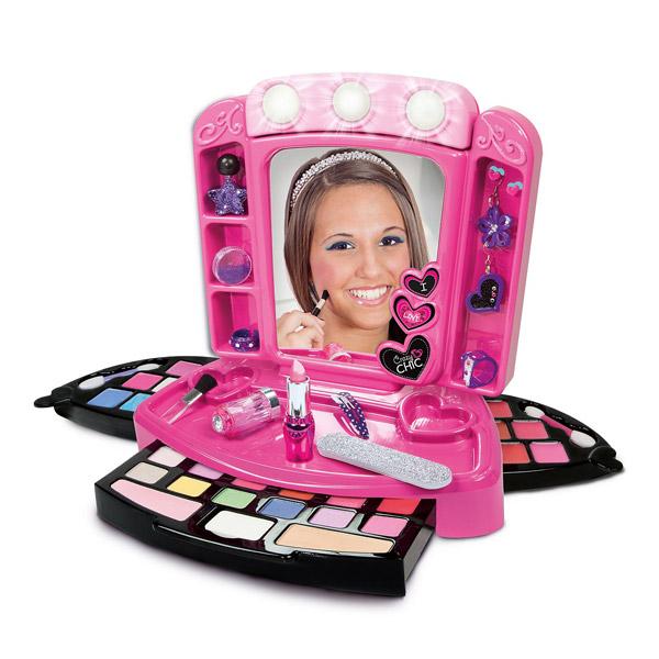 Crazy chic miroir de maquillage clementoni king jouet coiffure maquillage clementoni - Miroir maquillage lumineux professionnel ...