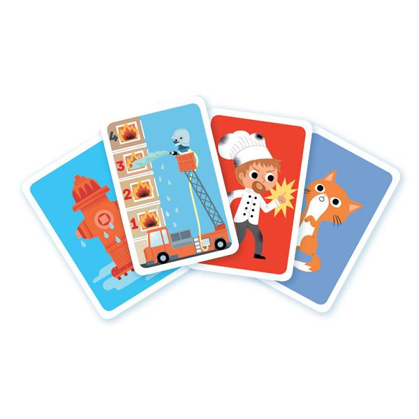 Jeu de cartes au feu les pompiers