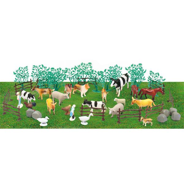 Animaux De La Ferme Ou De La Jungle 47 Pi Ces Animal World King Jouet Figurines Et Cartes