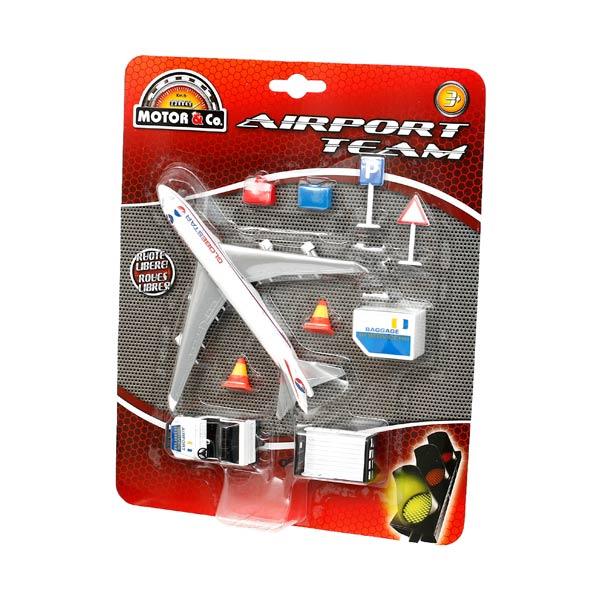 Avion avec accessoires