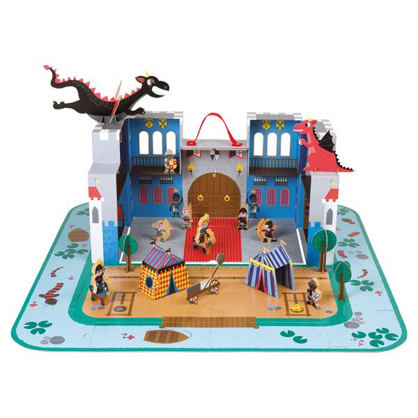 Château fort du chevalier en valise
