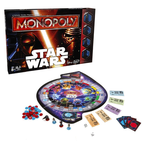 monopoly star wars hasbro king jouet jeux de strat gie hasbro jeux de soci t. Black Bedroom Furniture Sets. Home Design Ideas