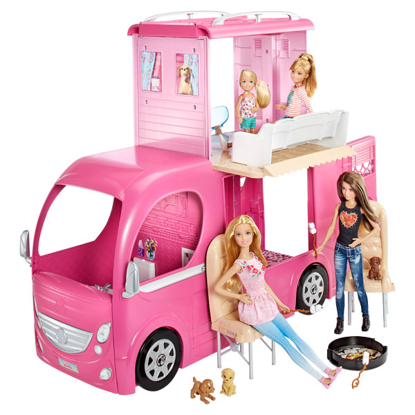 camping car duplex barbie de mattel. Black Bedroom Furniture Sets. Home Design Ideas