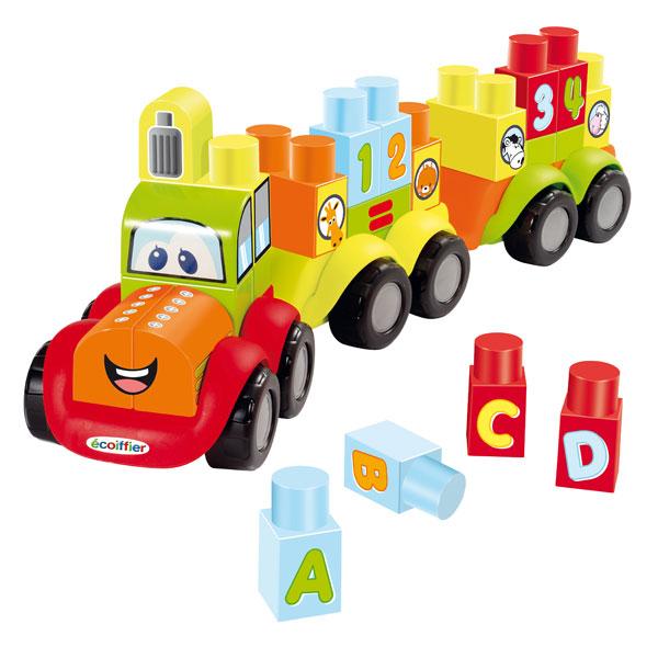 train maxi abrick ecoiffier king jouet lego planchettes autres ecoiffier jeux de. Black Bedroom Furniture Sets. Home Design Ideas