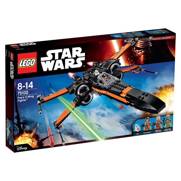 75102 lego star wars poe x wing fighter lego king. Black Bedroom Furniture Sets. Home Design Ideas