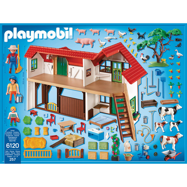 6120 grande ferme playmobil country playmobil king jouet playmobil playmobil jeux d. Black Bedroom Furniture Sets. Home Design Ideas