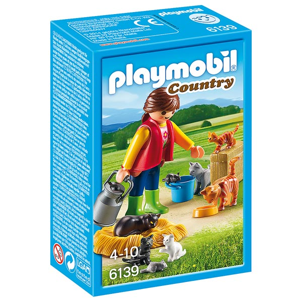 6139-Soigneur avec chats - Playmobil Country