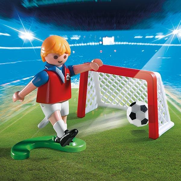 jeu jouet Jeux imitation mondes imaginaires playmobil ref  joueur de football avec cage au but