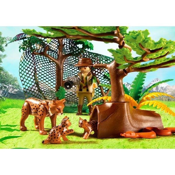5561 explorateur et famille de lynx playmobil wild life playmobil king jouet playmobil. Black Bedroom Furniture Sets. Home Design Ideas