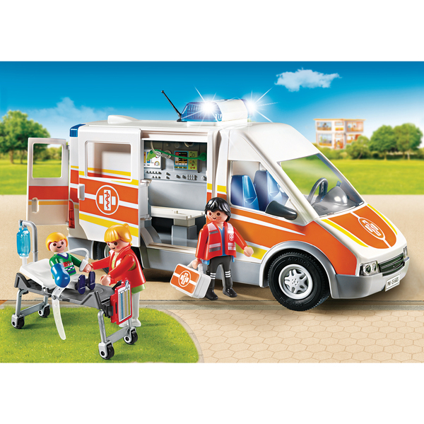 6685 ambulance avec gyrophare et sir ne playmobil king jouet playmobil playmobil jeux d. Black Bedroom Furniture Sets. Home Design Ideas