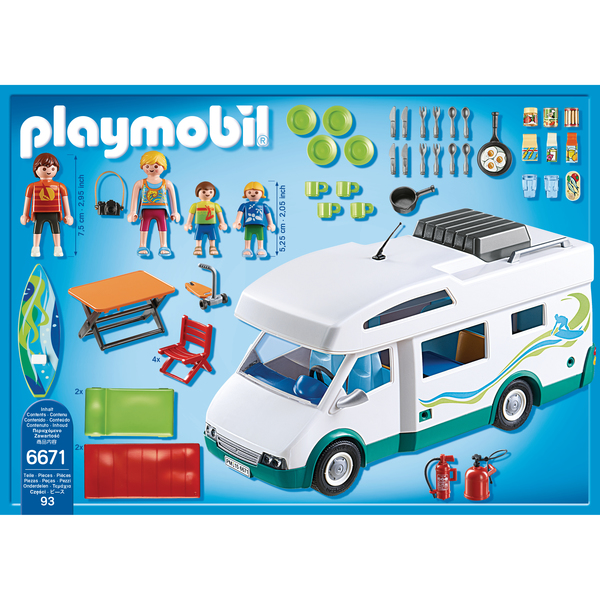 6671 famille avec camping car playmobil summer fun playmobil king jouet playmobil playmobil. Black Bedroom Furniture Sets. Home Design Ideas