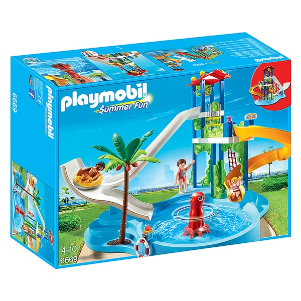 6669 parc aquatique avec toboggans g ants playmobil king for Piscine playmobil