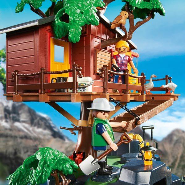 5557 cabane des aventuriers dans les arbres playmobil wild life playmobil king jouet - Casa del arbol de aventuras playmobil ...