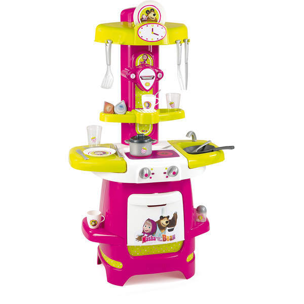Cuisine cooky masha michka 22 accessoires smoby king for Cuisine king jouet