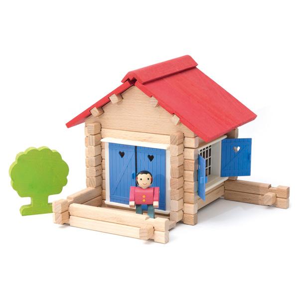 Maison en bois 70 pièces Jeujura  King Jouet, Lego, planchettes & autres