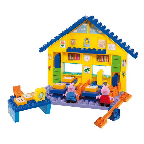 peppa pig bloxx ecole smoby king jouet lego. Black Bedroom Furniture Sets. Home Design Ideas