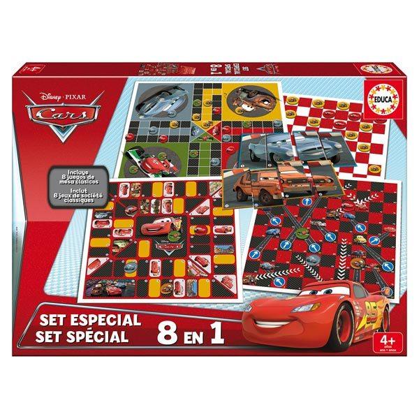 jeu de soci t 8 en 1 cars educa king jouet jeux de hasard et parcours educa jeux de soci t. Black Bedroom Furniture Sets. Home Design Ideas