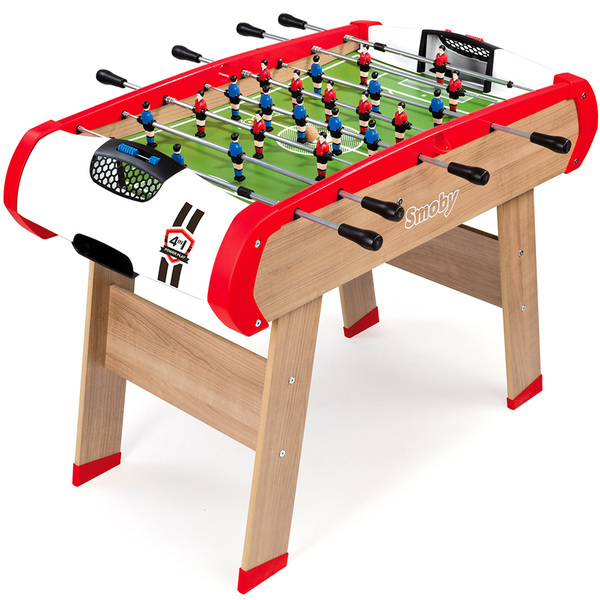 Powerplay 4 en 1 smoby king jouet babyfoot billard smoby sport et jeux de plein air - Leclerc table de ping pong ...