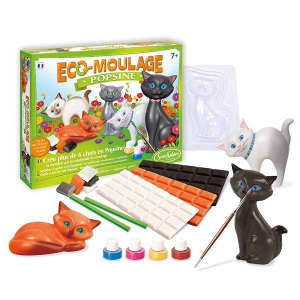 Coffret Eco moulage Popsine les chats et chatons