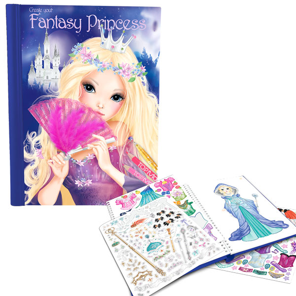 Livre fantasy princess top model kontiki king jouet dessin et peinture kontiki jeux cr atifs - Top model livre de dessin ...