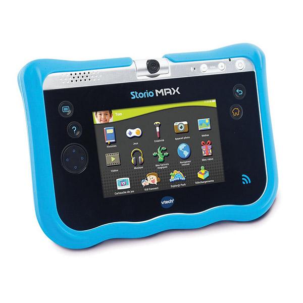 Storio max 5 coque de protection bleue vtech king jouet for Housse storio max 5